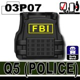 (03P07)Black_Tactical Vest(Q5)-FBI